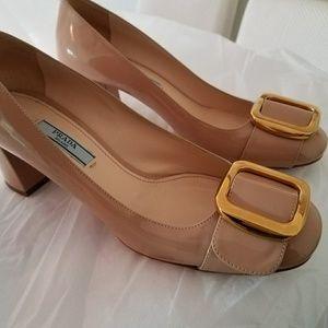 Prada block heels